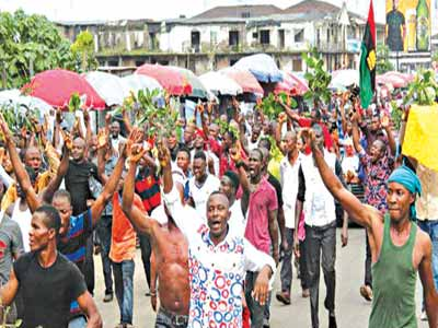 Massob protest in Port Harcourt... last week