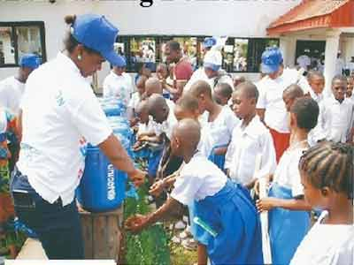 Hand washing campaign at a primary school in Yakurr Local Government Area of Cross River State... to increase awareness and understanding about the importance of hand washing with soap as an easy, effective and affordable way to prevent diseases and save lives