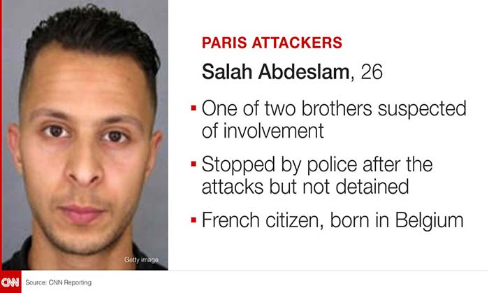 Investigators are still hunting for Salah Abdeslam, one of the Paris attacker.