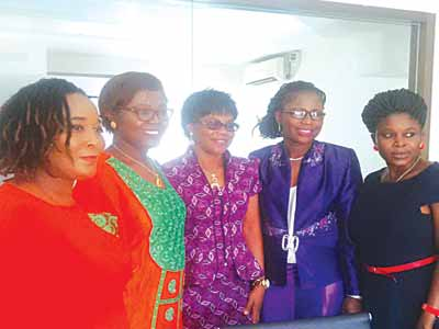 Members of Association for the Prevention of Infertility and Promotion of Reproductive Health and Rights (ASPIRE), Jibor Patricia (left); Kpajie Ifeyinwa; their Brand Ambassador, Ifeoma Emekwue; Ifeoluwa Okusanya and Titilayo Aketi at the relaunch of ASPIRE recently in Lagos    PHOTO: WOLE OYEBADE