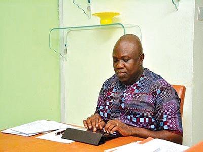 Governor Akinwunmi Ambode responding to Lagosians during an interactive #JJmeetsAmbode chat on Twitter... on Sunday