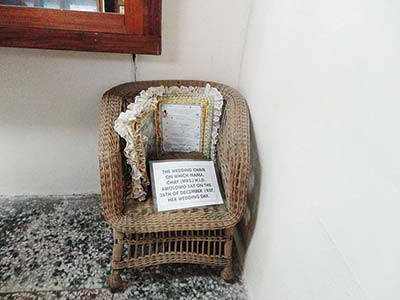 The chair on which  H.I.D Awolowo sat on her wedding day