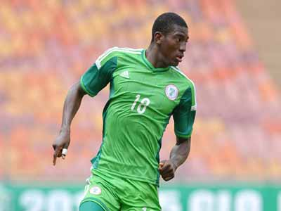 Taiwo Awoniyi will lead Nigeria's attack during the Rio 2016 Olympics qualifying tournament, which begins in Senegal…this weekend. PHOTO: AFP