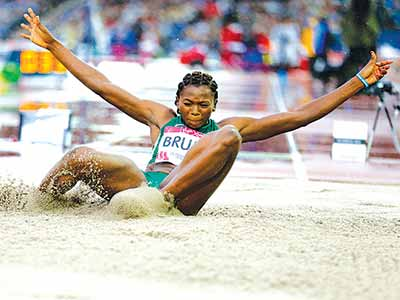 Commonwealth gold medallist, Ese Brume, wants to be at the Rio 2016 Olympic Games.              PHOTO: AFP.