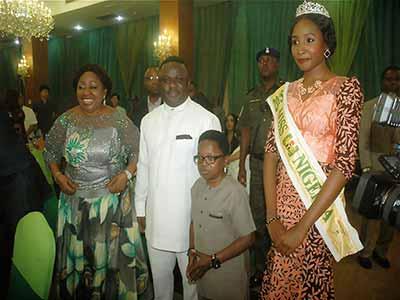 Senator Ita-Giwa, Gov. Ayande, Chinedu Ikedieze and MBGN 2015 winner Unoaku Anyadike at the event