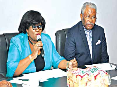 Director General of Federal Institute of Industrial Research, Oshodi (FIIRO), Dr. Gloria Elemo, during a meeting, last week, at the institute with the United Nations Industrial Development Organization (UNIDO) Country Representative and Director Regional Office, Dr. David Tommy.