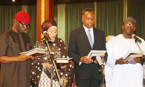 Fayemi-and-other-Ministers-Taking-the-Oath-of-Office