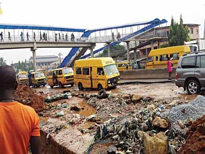 Ile-Epo Market, Oke-Odo area of Abule-Egba.            PHOTO: SUNDAY AKINLOLU