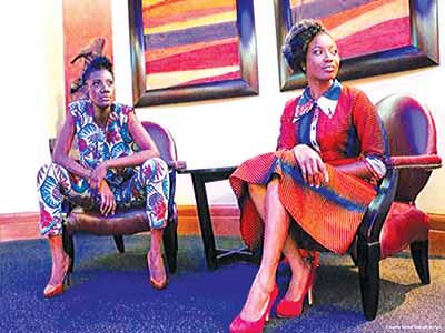 British-born Nigerian fashion mobel, Jennifer Ronne (right) is one of the headliners at the oncoming LAFGA