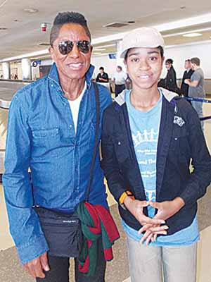 Jermaine Jackson and Zuriel in Los Angeles