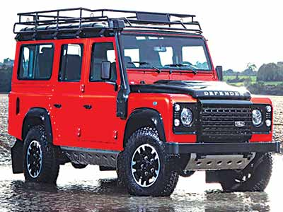 A Land Rover Defender