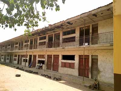 A dilapidated classroom block in a public primary school in the Papa Ajao area of Mushin, Lagos State PHOTO: ENO-ABASI SUNDAY