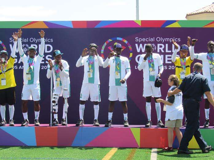 The Nigerian Unified Football team won gold in the Special Olympics World Summer Games in Los Angeles.