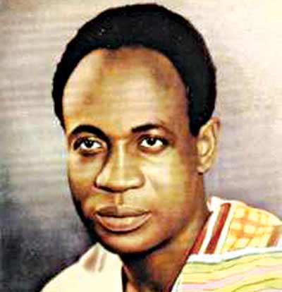 Dr, Kwame Nkrumah, Ghana's first president and a father of  Pan-Africanism.