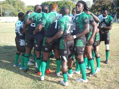 The Nigerian National Rugby team getting ready for the Rio 2016 qualifiers billed for South Africa.