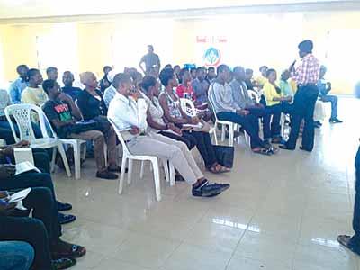 Participants at the Sarah Adebisi Sosan (SAS) Foundation entrepreneurship workshop in Lagos.