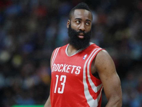 James Harden drained a season-high 50 points as the Houston Rockets held on to beat hapless Philadelphia 116-114. Photo: businessinsider