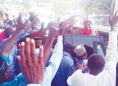 APC's Aisha Jummai Alhassan after the tribunal declared her winner of theTaraba State governorship election in Abuja