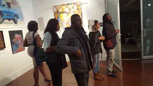 Audience Engaged By Works on Display
