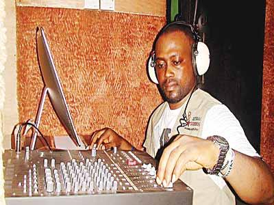 Studio engineer on duty at Affadot nStudio.