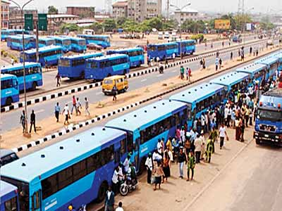 Some BRT buses plying the route