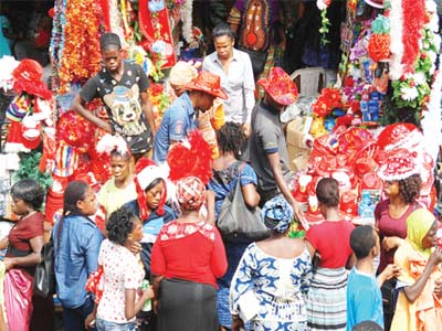 Shopping for Christmas at Tejuosho Market, Lagos...PHOTO: FEMI ADEBESIN-KUTI