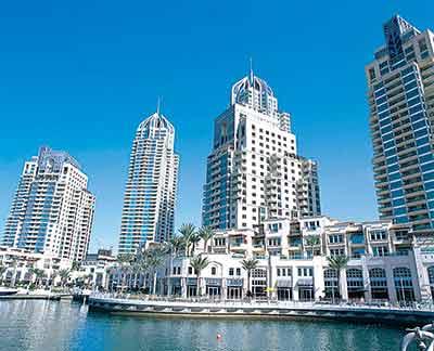 An illustration of the Dubai Marina