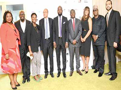 From Left: Event Director, Tori Abiola; Director, Team Lead, Henry Bassey;Director, British Council Nigeria, Ojoma Ochai;Professor Pat Utomi;Founder/Director Music Week Africa, Audu Maikori;CEO, Nigerian Stock Exchange, Oscar Onyema;Director, Music Week Africa, Leslie Kasumba; General Manager, Beat FM/Megalectrics, Deji Awokoya, andDirector Digital, Raoul Sawhney, at the press conference held in recently in Lagos.