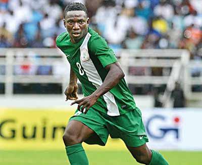 Oghenekaro Etebo on duty for U-23 Eagles