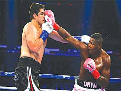 Ortiz (right) could face Tyson Fury in 2016 after beating Bryant Jennings
