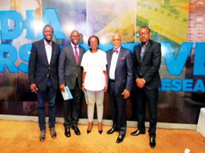 Mr. Feyi Olubodun, General Manager Insight Communications, Dr. Tayo Oyedeji, CEO Media Perspectives, Mr. Jude Odia, Media Director, Media Perspectives and Mrs. Iquo Ukoh.