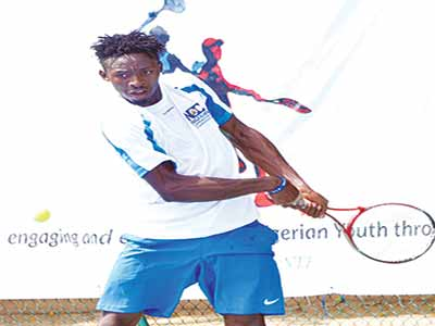 Christian Paul was Team Tombim's star in the final of the inaugural NCC Tennis League at the Lagos Lawn Tennis Club Onikan…on Saturday.