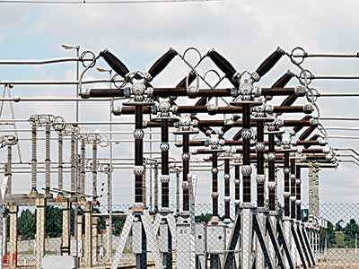 A power transmission facility in Lagos.