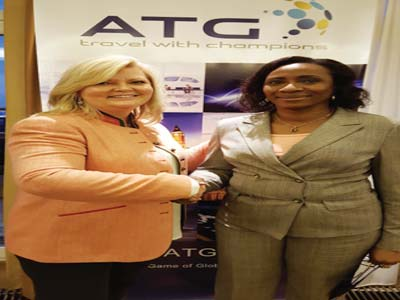 The CEO, Sesbys Travels and Tours, Adeola Sesby-Banjoh and Tammy Krings- President /CEO ATG Global Travel Management Company