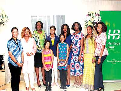Zuriel (fifth left), Ovia, Dabiri-Erewa, Nnaji and other at the launch