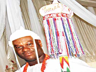 Ooni of Ife, Oba Enitan Adeyeye after the installation… yesterday. More on pages 2, 11 PHOTO: NAJEEM RAHEEM