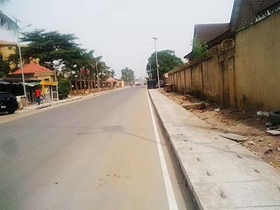The newly-constructed road in Ajao Estate