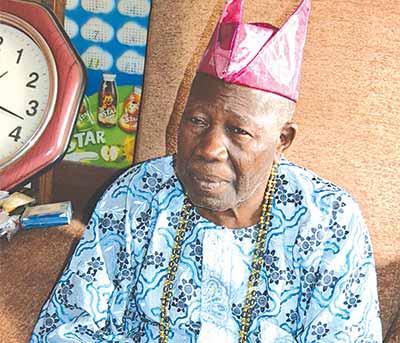 Olubadan in waiting, High Chief Saliu Adetunji at his residence Popoyemoja, Ibadan…yesterday.