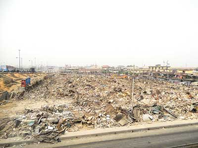 The demolished market... PHOTOS: FEMI ADEBESIN -KUTI