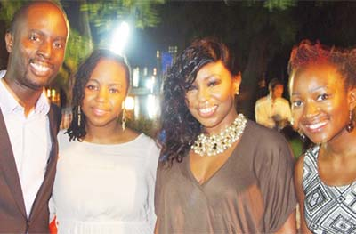 Team led by Serge and Nollywood actress Rita Dominic at the unveiling of Nollywoodweek in Lagos