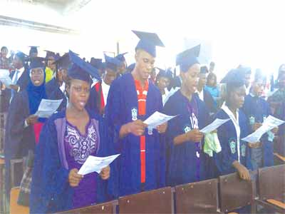 ACE freshers taking matriculation oath