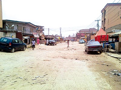 A section of Adeshina Street             PHOTO: CHUKS NWANNE