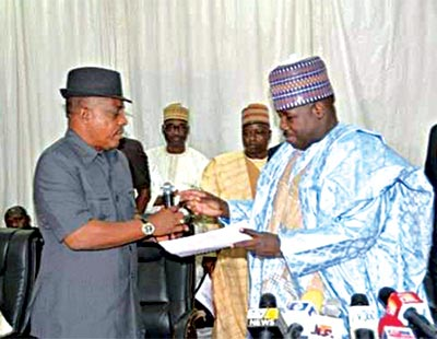 Alli-Modu Sheriff and Uche Secondus