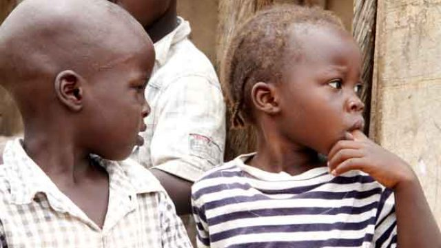 Children at IDP camp