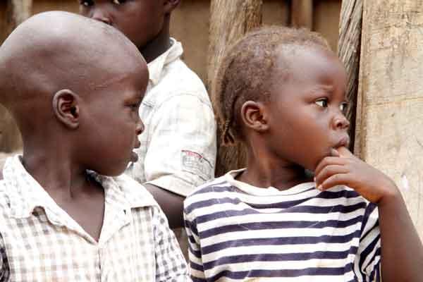 Children at IDP camp