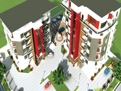 An illustration of the proposed Simeon Court, Oniru estate, Lagos
