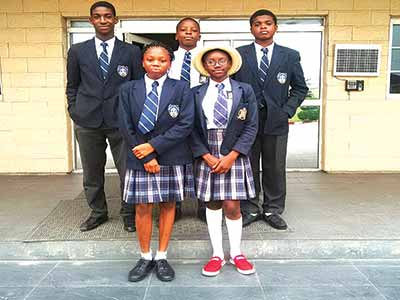 Students of White Dove Schools, Lekki, Nigeria's delegates to the Model UN conference