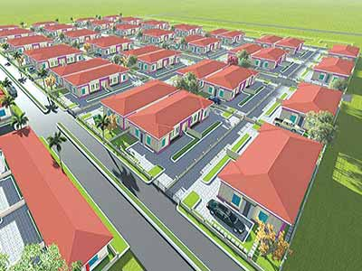 Illustration of the proposed Royal Haven Garden, Mowe, Ogun State
