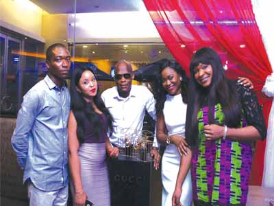 Gucci Representative, Vien Odofin-Daniel (right);OAP Osagie and Marketing Manager, Eniola Ositelu and others at Ikeja City Mall