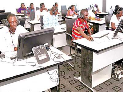 Learners at the Sanako Digital Language Laboratory, Obafemi Awolowo University (OAU), Ile-Ife, Osun State. PHOTO: www.learningsystems-ng.com